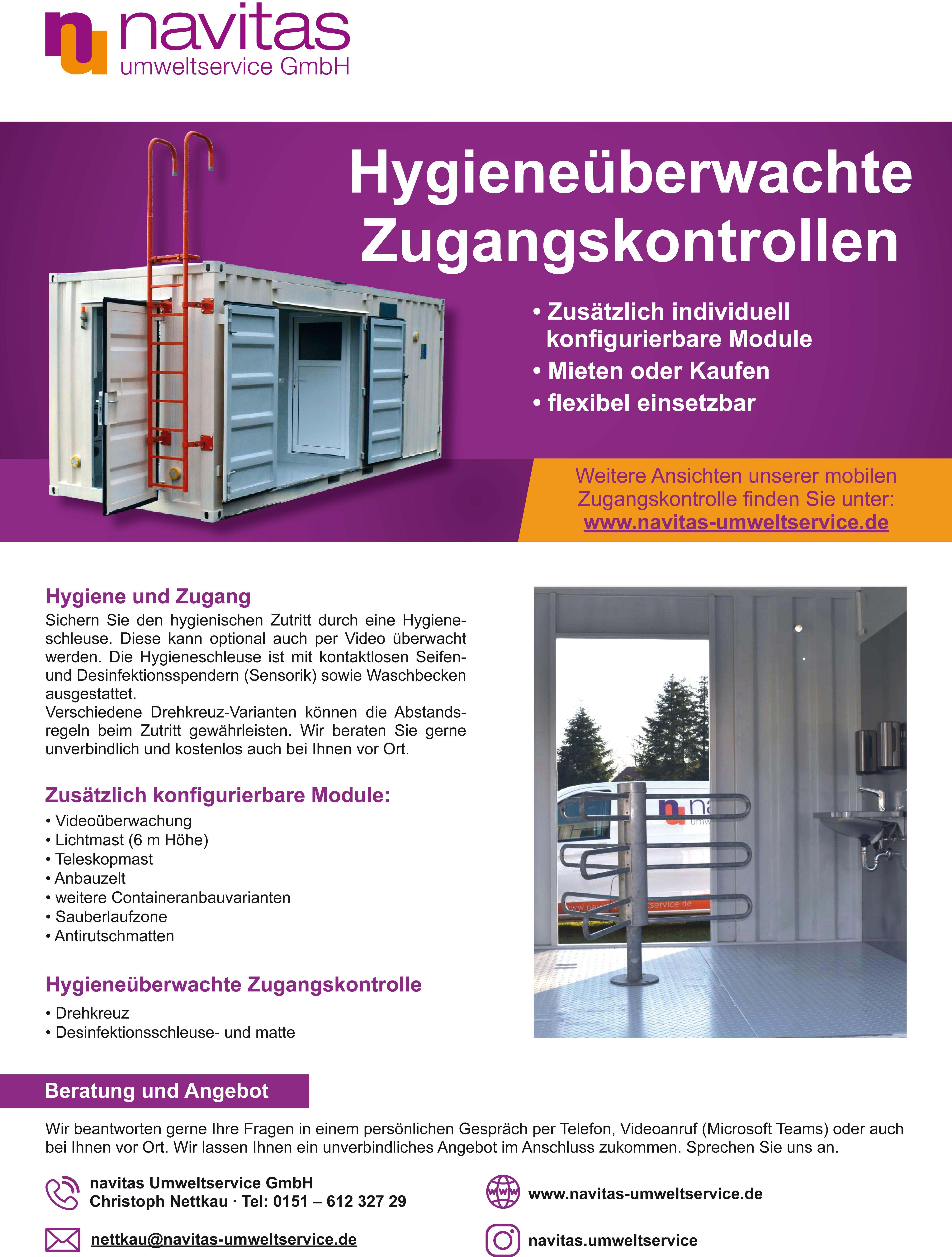 Flyer_Hygieneschleuse